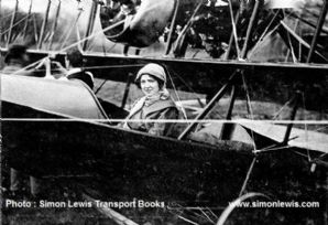 Radley-England Waterplane no.1. Photo. Mrs Gordon England in cockpit 1912.